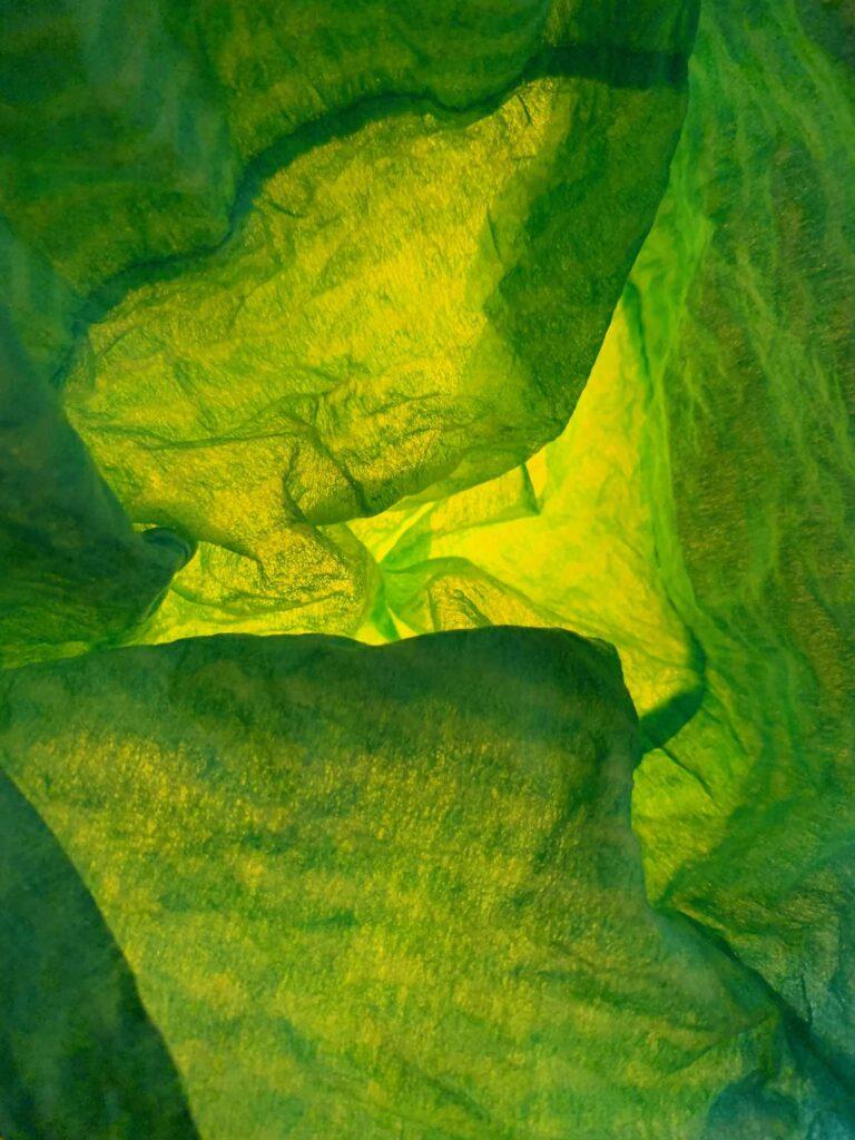 waste-art gruen, ein Abfallbild von Georg Marbet