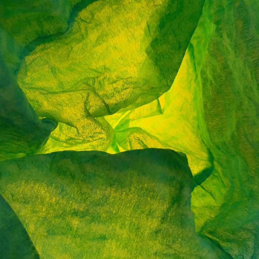 waste-art grün, ein Abfallbild von Georg Marbet