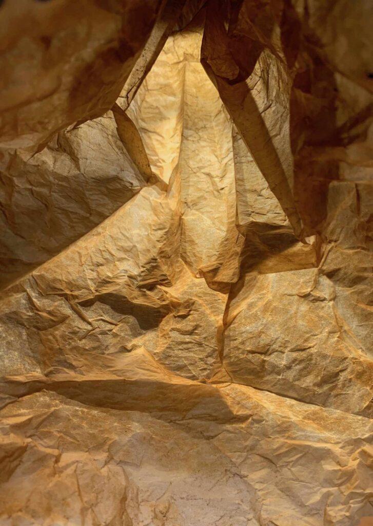 Bild: waste-art ocker, ein Abfallbild von Georg Marbet