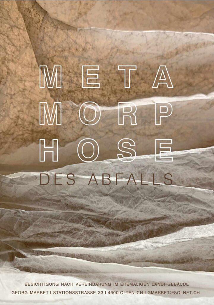 Bild: Flyer zur Ausstellung «Metamorphose des Abfalls» von Georg Marbet