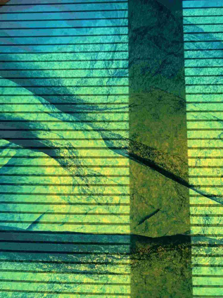 Bild: waste-art Gruengelb, ein Abfallbild von Georg Marbet