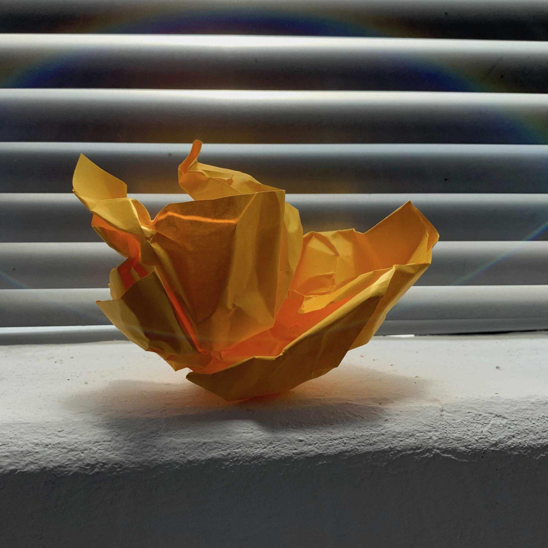 gelbes Papier, Ingredienzien der Abfallbilder von Georg Marbet