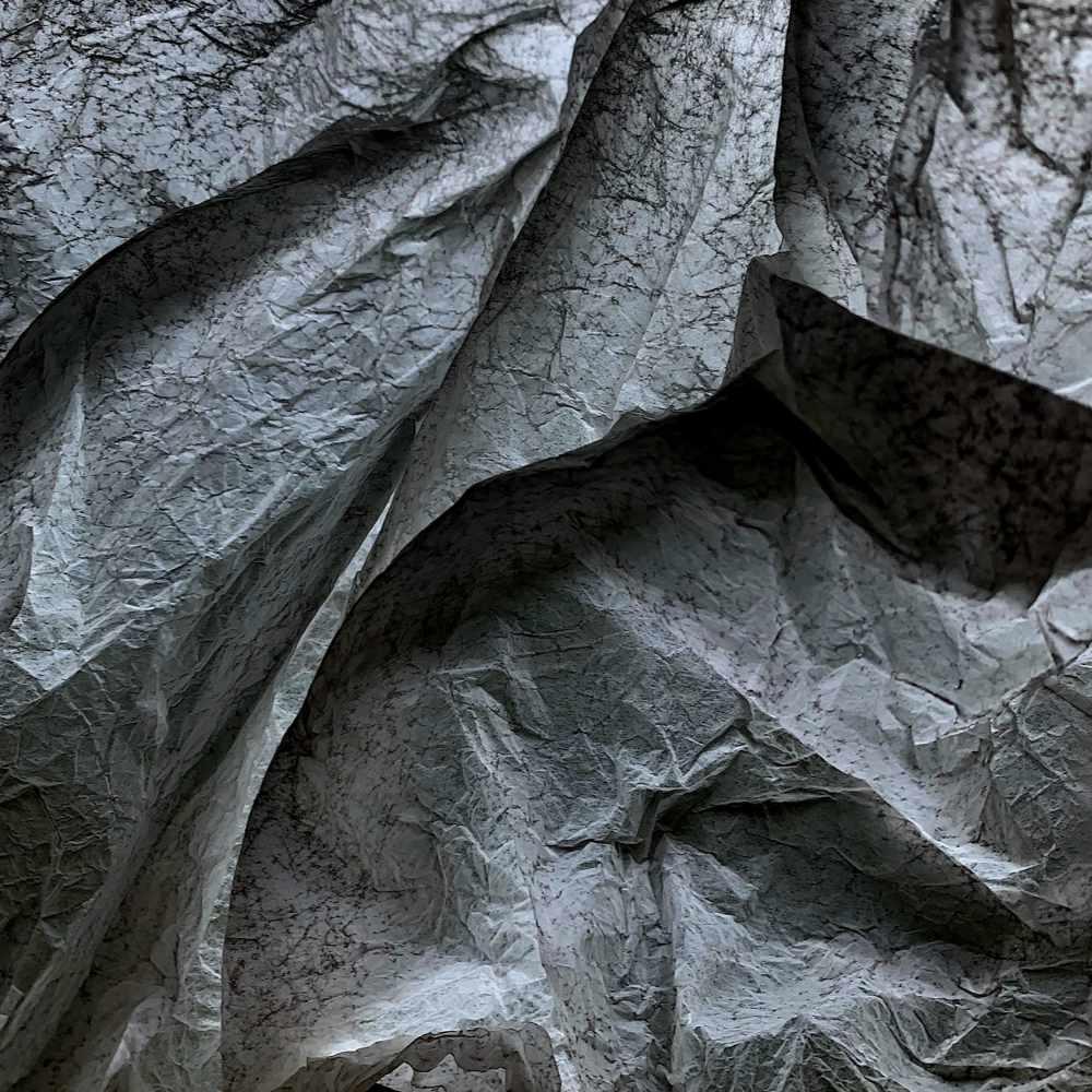 waste-art Schwarz-Weiss, ein Abfallbild von Georg Marbet