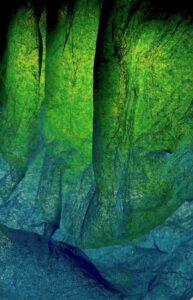Bild: waste-art Tuerkis, ein Abfallbild von Georg Marbet