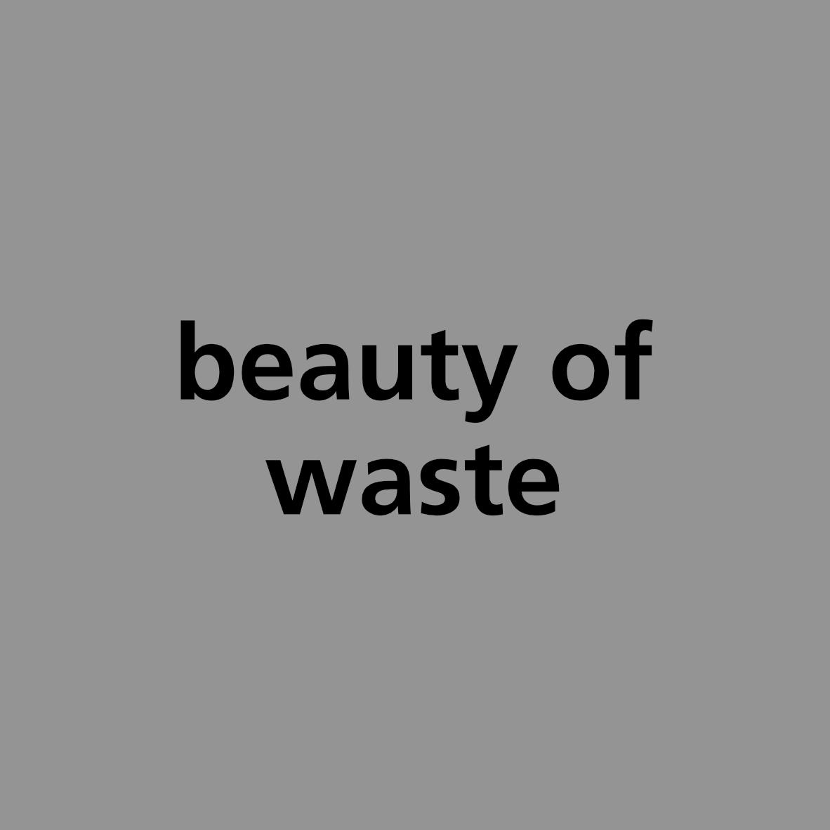 beauty of waste